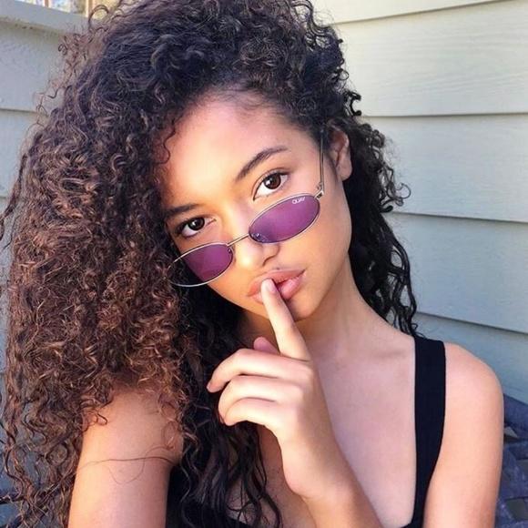 d0cfc8b67e3 Quay X Alissa Violet Clout Sunglasses Purple NWT